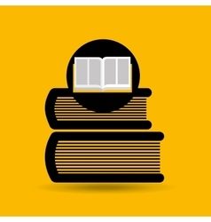 Education opened book library icon vector