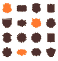 Element set of shield badges image vector