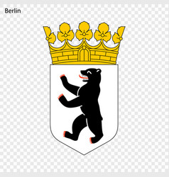 emblem of berlin vector image