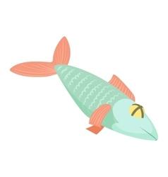 Fish icon cartoon style vector image
