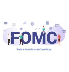 Fomc federal open market committee concept vector