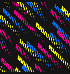 geometric pattern colorful diagonal fading lines vector image