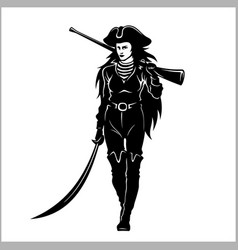 girl pirate - vector image