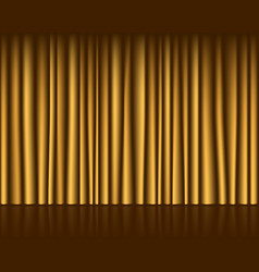 Gold empty stage with curtain seamless template vector