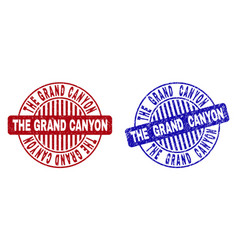 Grunge the grand canyon scratched round watermarks vector