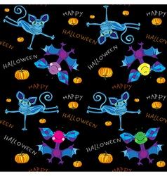 happy halloween kids pattern vector image