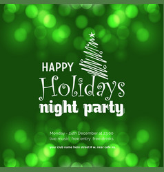 happy holiday night party background vector image