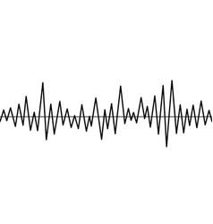 Heart ratecardiogram icon pulse waveform heart vector