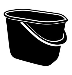 Household bucket icon simple style vector