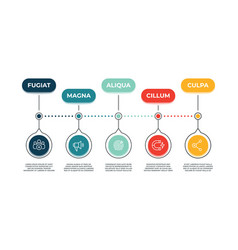 Inbound marketing icons banner action audience vector