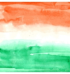 Indian flag watercolor texture vector
