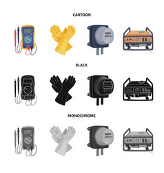 Isolated object electricity and electric icon vector