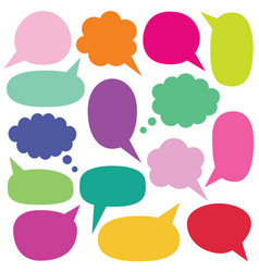 Isolated speech and thought bubbles set vector