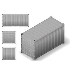 Isometric cargo container vector