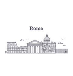 Italy rome architecture europe skyline vector