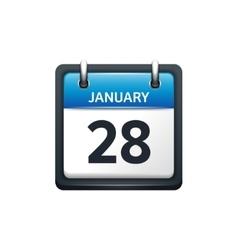 January 28 Calendar icon flat vector