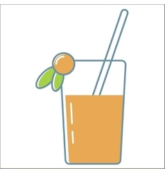 Juice icons collection vector