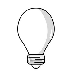 line light energy bulb to illumination vector image