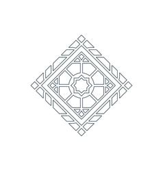 Lineart ornament vector