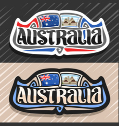 Logo for australia vector