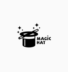 magic hat logo vector image