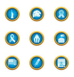 Mainland icons set flat style vector