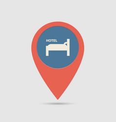 map pin hotel vector image