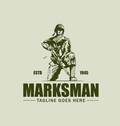 Marksman vintage symbol vector