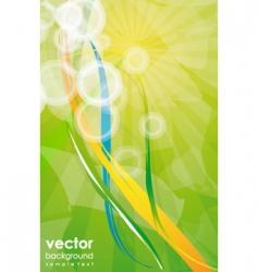 modern natural background vector image