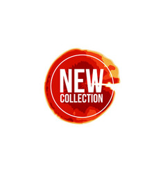New collection label template design vector