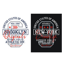 new york brooklyn typography design athletic vector image