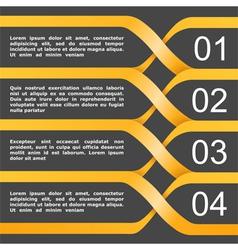 Orange Banners vector image vector image