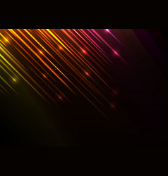 Orange speed shower abstract line background vector