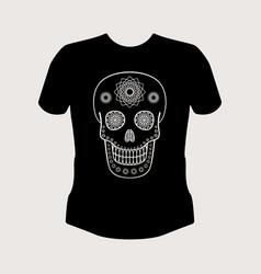 Ornamental skull t-shirt mockup vector