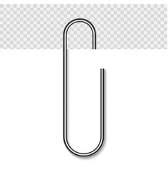 paper clip on paper vector image