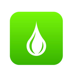 raindrop icon green vector image