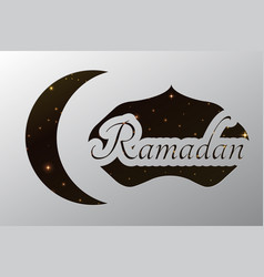 Ramadan crescent paper template background vector