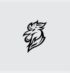 rooster logo design vector image