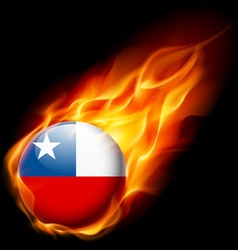 Round glossy icon of chile vector image