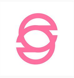 s csc so initials simple line art logo vector image