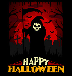 scary halloween background red vector image