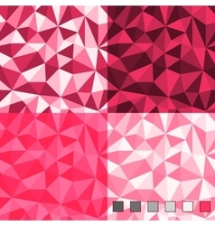 Seamless abstract polygonal background patterns vector