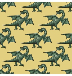 seamless background with dragon vector image