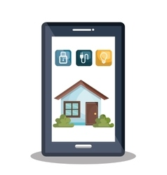 Smart home design vector