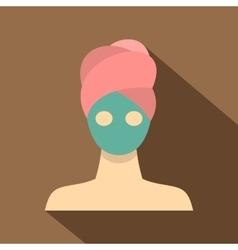 Spa facial clay mask icon flat style vector