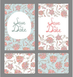 Stylish Save the Date cards made of elegant vector image
