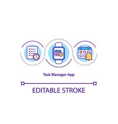 Task manager app concept icon vector