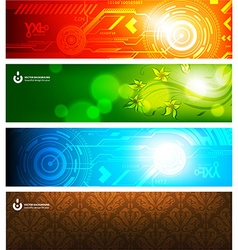 Techno Background Set vector