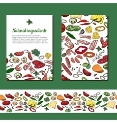 Template with different vegetables For your vector