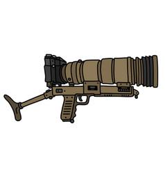 The sand photo gun vector